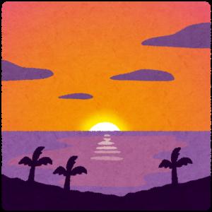 【北九州】だるま太陽、くっきり 門司沖で蜃気楼