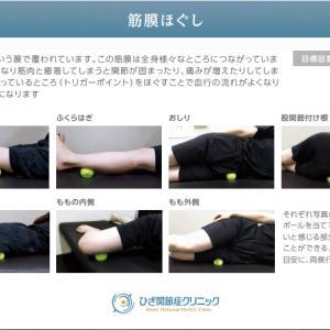 簡単なストレッチでも膝が痛い時の筋膜ほぐし