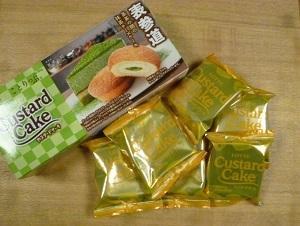 ロッテの「表参道茶茶の間の抹茶チーズケーキ カスタードケーキ」