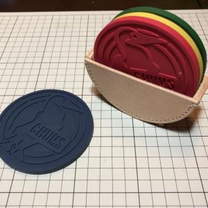レザークラフト CHUMSコースターホルダー製作!
