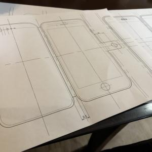 レザークラフト iPhone8plus 手帳型ケース 製作記(型紙づくり)