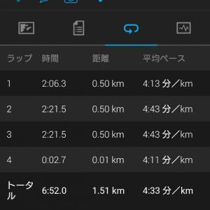 1500mで、VDOT再考
