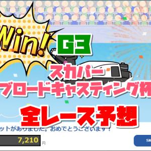 『競艇予想(11/17)』G3戸田スカパー・ブロードキャスティング杯・5日目の全レース予想