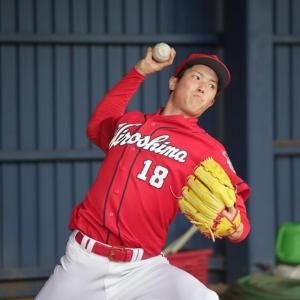 オープン戦開幕投手 森下暢仁、老害張本勲に絡まれながらもブルペンで37球投げ順調に沖縄キャンプをこなす