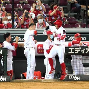 阪神戦勝利!!ホームラン3本と中継ぎ投手の粘りで快勝!栗林は22S