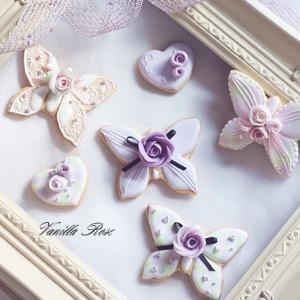 蝶々のアイシングクッキー♪