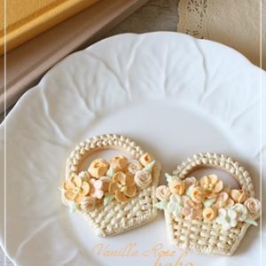 アイシングクッキー♪オレンジのお花たち♪