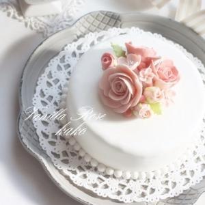 マシュマロフォンダントのケーキ♪