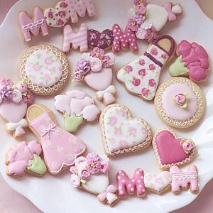母の日のアイシングクッキー♪