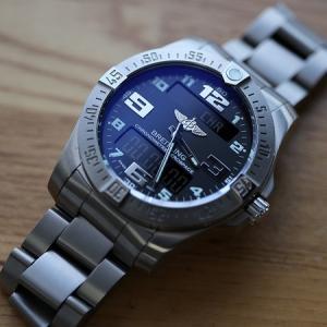 ブライトリングのクォーツ腕時計!エアロスペースのインプレッション
