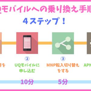 【超簡単!】たったの4ステップでUQモバイルへ乗り換える方法を注意点と一緒に解説!
