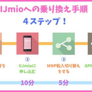 【超簡単!】たったの4ステップでIIJmio(みおふぉん)へ乗り換える方法を注意点と一緒に解説!