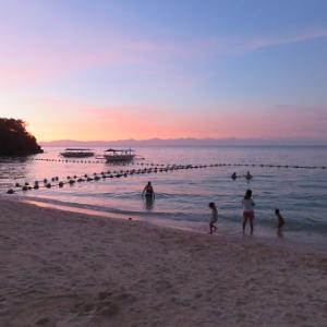 気になった夕陽(フィリピン)