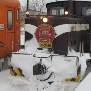 雪に誘われストーブ列車(津軽)