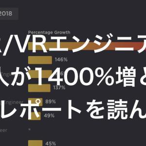 AR/VRエンジニアの求人が1400%増というレポートを読んで