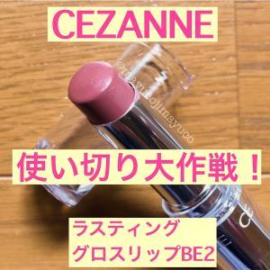 【使い切り大作戦】セザンヌ ラスティンググロスリップBE2に合うチーク!
