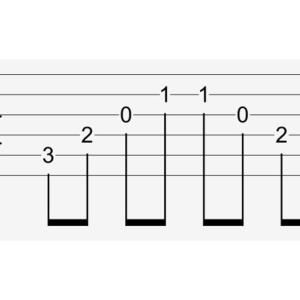 tab譜(タブ譜)の読み方を覚えよう。ギターの写真と譜面を照らし合わせて解説