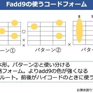 Fadd9の押さえ方。基本フォームからよく使うバリエーションまで解説