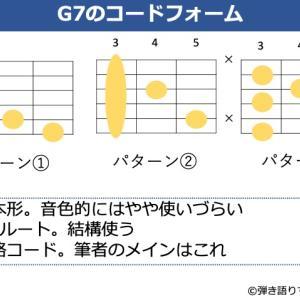 G7コードの押さえ方。基本フォームからバリエーションまで解説