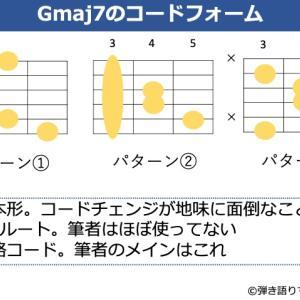 Gmaj7の押さえ方。よく使うコードフォームからバリエーションまで解説