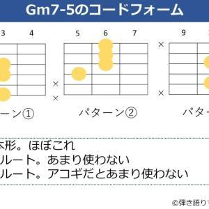 Gm7-5コードの押さえ方。基本のコードフォームと効率的な覚え方を解説