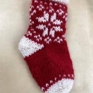 編み物作品 かわいい靴下オーナメント