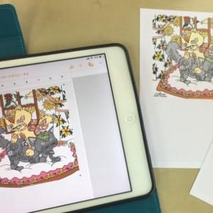 iPadで色ぬり・はがき作成・印刷