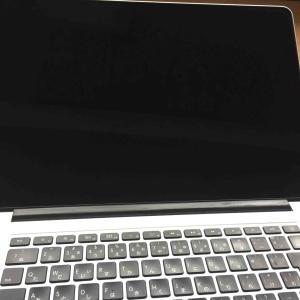 Macの液晶画面のお手入れ。コーティング剥がれのムラを磨く。