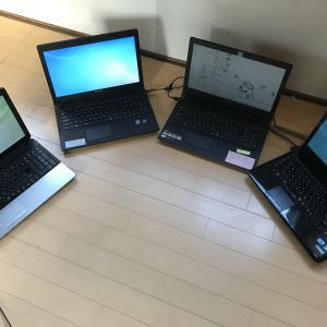 windows10のアップグレード作業
