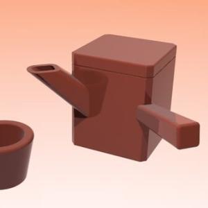 【制作】そば湯の容器、私も作ってみた #Shorts #作ってみた #3DCG #へぎそば