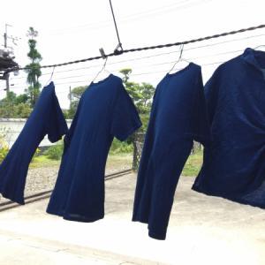 注文染め 藍染T-shirts