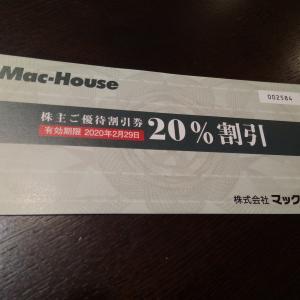 株主優待 マックハウス 割引券をつかって45%引きにする説