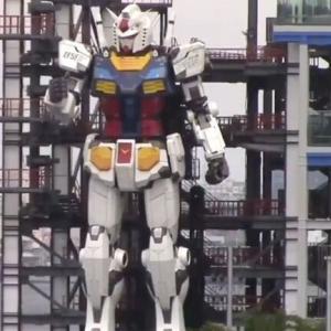 「こいつ(少し)動くぞ!」 高さ18mの巨大ガンダム 横浜に登場 ・・・あとは素早さだw そして量産だ!