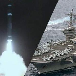 イラン軍の発射した弾道ミサイルが米空母近くで爆発 160㎞が近く?  バイデンの大統領就任祝いですかw