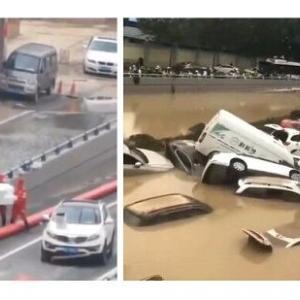 【悲報】 中国 6000人超死亡か、鄭州の長さ4kmのトンネルが5分で冠水で