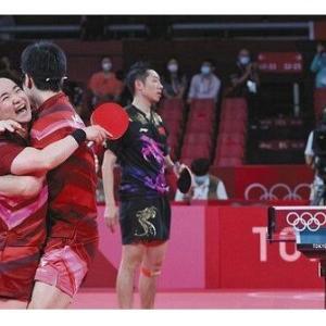五輪卓球 敗れた中国代表が日本を賞賛「とても勇敢だった」「結果が全て」 本当に某国とは違うのか?