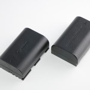 Canon LP-E6Nの互換バッテリーとしてROWAJAPANのバッテリーを使用しています。容量・使用時間などのレビュー。