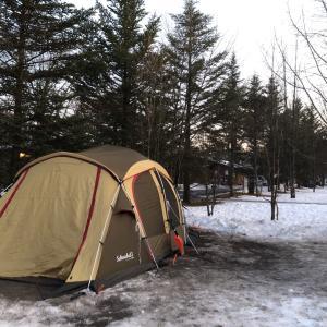 雪中キャンプ、テント設営どうなった?