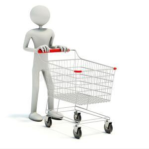 買い物での光景。