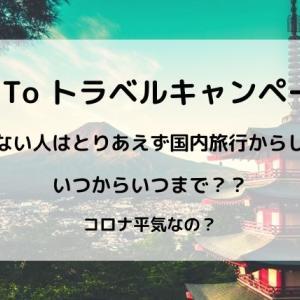 【Go To トラベルキャンペーン】7月?8月?いつから?我慢できない人はとりあえず国内旅行からしてみる?