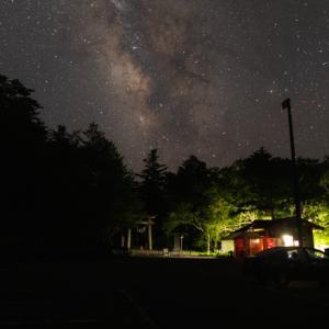 玉置神社の駐車場へ星空の撮影に行きました(奈良県十津川村)