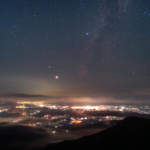 伊吹山の琵琶湖展望台へ星空の撮影に行きました(滋賀県米原市)
