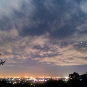 三重県民の森へ夜景と星空の撮影に行きました(三重県菰野町)
