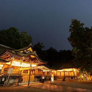 夜の大神神社へ星空の撮影に行きました(奈良県桜井市)