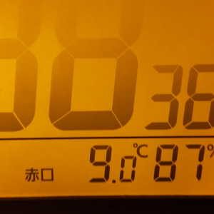 ただいまの気温