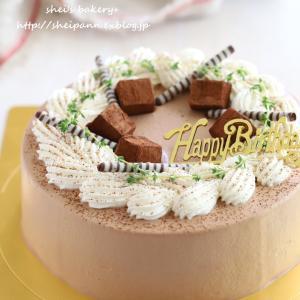 ショコラバナナケーキでお誕生日