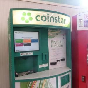 小銭両替機 初めて使いました