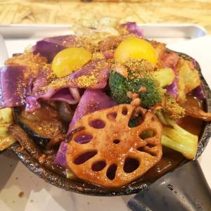#一日分の野菜カレー #新橋ランチ #野菜カレー