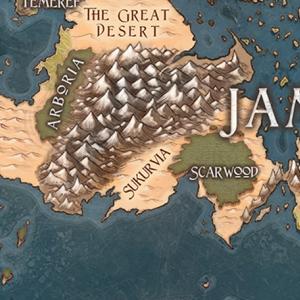 ドミナリア地理:南西ジャムーラの地図作成その2