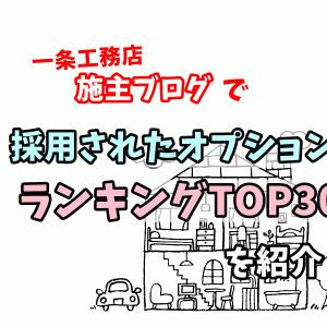 【一条工務店】施主ブログで人気の「オプション」ランキングTOP30を紹介